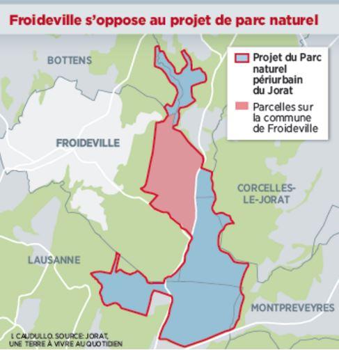 24 heures : «Froideville fait déplacer le projet de parc du Jorat»