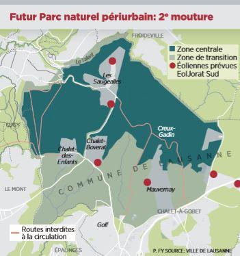 24 heures : «Le parc du Jorat revient, en version lausannoise»